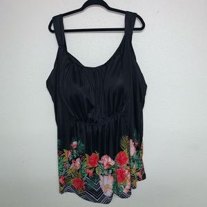 Swimsuits For All floral tropical tankini size 40